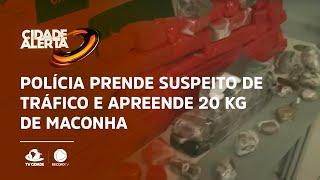 Polícia prende suspeito de tráfico e apreende 20 kg de maconha