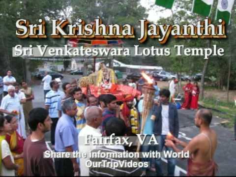 Pictures of Sri Krishna Janmastami - SV Lotus Temple, Fairfax, VA, US