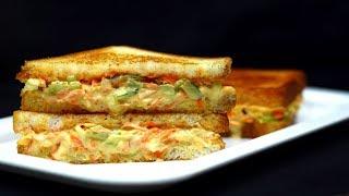 Restaurant Style Bread Sandwich    Easy Bread Sandwich    Bread Recipes