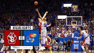 South Dakota vs. No. 1 Kansas Basketball Highlights (2018-19) | Stadium