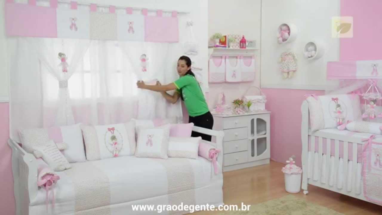 Cortina bailarina rosa gr o de gente - Cortinas dormitorio bebe ...