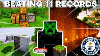 How I Beat 11 WORLD RECORDS in 11 Minutes...
