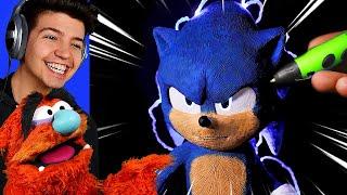 INSANE 3D PRINTED Sonic The Hedgehog!