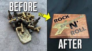 Casting An Electric Brass Guitar - Turn Scrap Brass Into Art