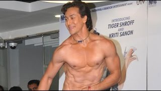 Jackie Shroff's Son Tiger Shroff's Shirtless Act! MUST WATCH