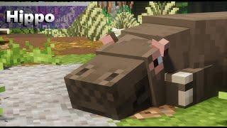 Hippos   Alex's Mobs Zoo (Minecraft 1.16.5 Zoo)