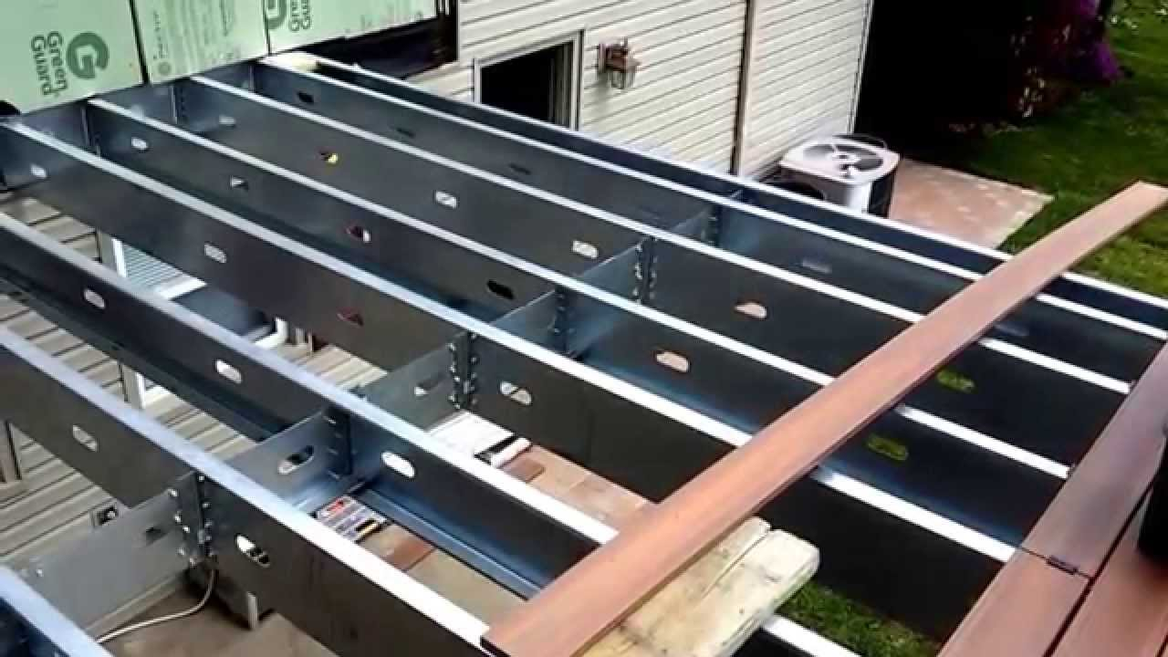 Steel Frame Deck In Wayne New Jersey By Bergen Decks Youtube