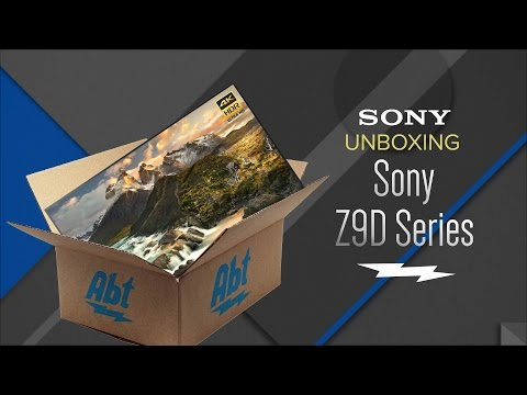 Unboxing: Sony Z9D Series 4K HDR With Android TV Smart HDTV - XBR-65Z9D