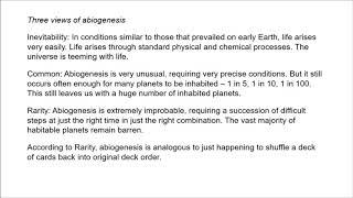 Philosophy of SETI 4 - The Origin of Life