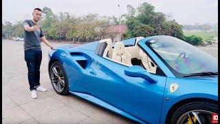Chủ tịch lái Ferrari 488 mui trần đi động thổ trường đua F1 tại Hà Nội | XEHAY