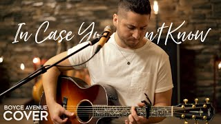 In Case You Didn't Know - Brett Young (Boyce Avenue acoustic cover) on Spotify & Apple