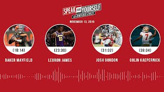 Deshaun vs. Lamar, Baker Mayfield, Josh Gordon, Colin Kaepernick | SPEAK FOR YOURSELF Audio Podcast