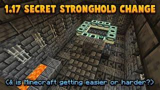 Does 1.17's SECRET Stronghold Change Make Minecraft Harder?
