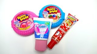 Hubba Bubba Bubble Gum Tape and Tubble Tube Gum and Squeeze Candy