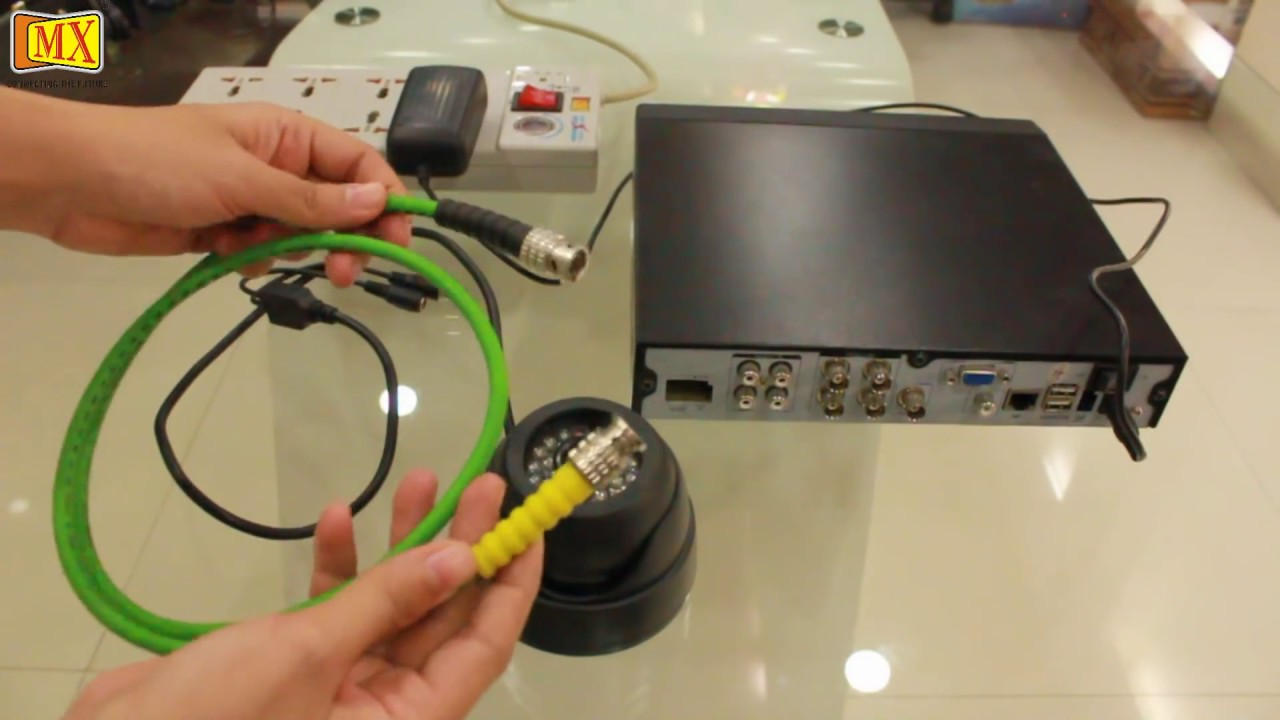 How To Connect Cctv Camera S To The Monitor Using Dvr