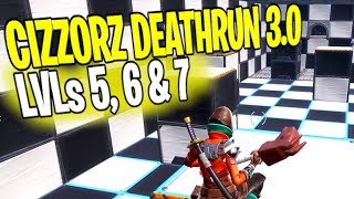 How to Beat Level 5, 6 & 7 | CIZZORZ DEATHRUN 3.0 Ultimate Guide! Fortnite Battle Royale