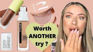 giving makeup FAILS a SECOND CHANCE feat maybelline activewear blursh morphe 2 quad goals