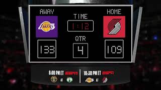 Lakers @ Trail Blazers LIVE Scoreboard - Join the conversation & catch all the action on ESPN!