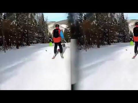 3D Skiing with Vitrima 3D GoPro Lens