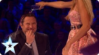 David gets a soaking from Alesha on BGMT | Britain's Got More Talent 2014