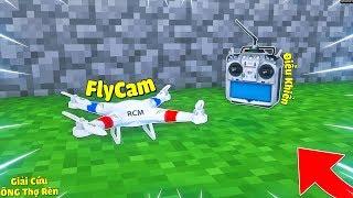 DÙNG FLYCAM ĐIỀU KHIỂN TỪ XA GIẢI CỨU ÔNG THỢ RÈN BỊ BẮT CÓC TRONG MCPE | Thử Thách SlenderMan