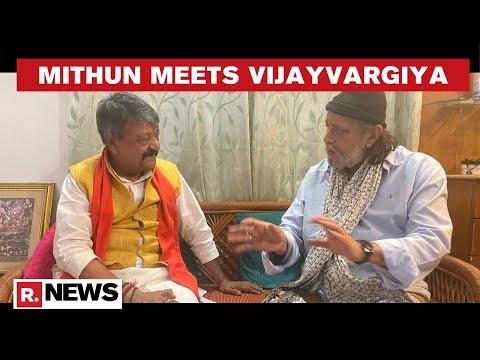 Actor Mithun Chakraborty meets BJP's Kailash Vijayvargiya