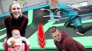 Trampoline PRANK Goes Too Far! | Ellie And Jared