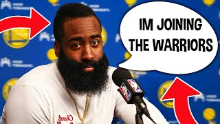 James Harden Signing With Golden State Warriors & Joins Steph Curry...