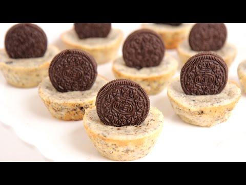 Mini Oreo Cheesecake Recipe - Laura Vitale - Laura in the Kitchen ...
