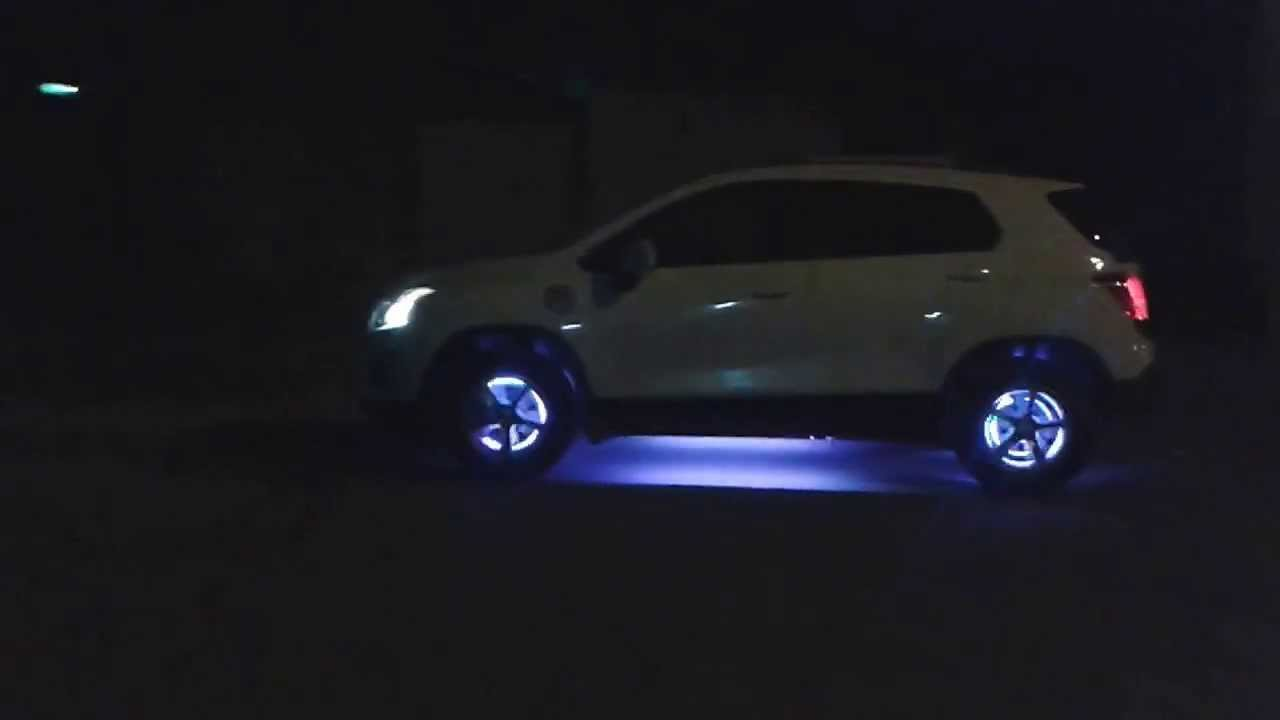 CHEVROLET TRACKER TUNING LUCES LED EN RINES - YouTube