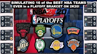 NBA2K20 - Best Teams in NBA HISTORY PLAYOFF Simulation! (Live Games) NBA2K20 MyLeague