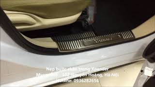 Hotline 0936282656, Nẹp bước chân trong xe Xpander, Ốp chống trầy bậc bước chân Xpander