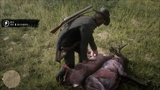 Red Dead Redemption 2:Hunting Skinning and Eating Gameplay