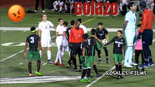 Soccer Players Get Heated - Lincoln vs Mission Bay High Boys Varsity Soccer