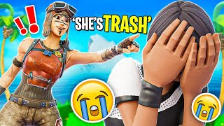 I Turned a HATER into a FAN (Fortnite - Battle Royale) Chica