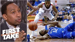 Duke's confidence shaken by Gonzaga's zone defense – Stephen A. | First Take