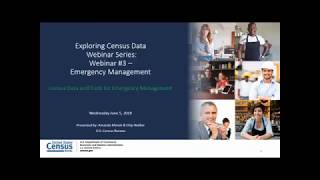 Emergency Management    Census Data and Tools for Emergency Management