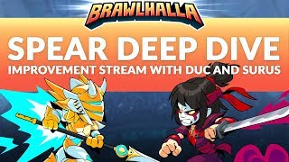 How to Play: Spear - Brawlhalla Dev Stream Montage