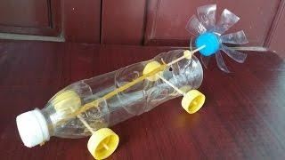 Cómo hacer un coche con botellas de plástico | Banda elástica coche accionado