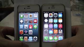 iPhone 4S iOS 6.1.3 vs iOS 8.3 Comparision