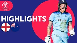 England vs New Zealand - Match Highlights | ICC Cricket World Cup 2019