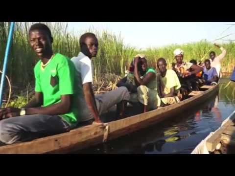 Canoeing through the marsh