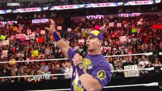 John Cena Raps on the rock 2 owned (2-0)