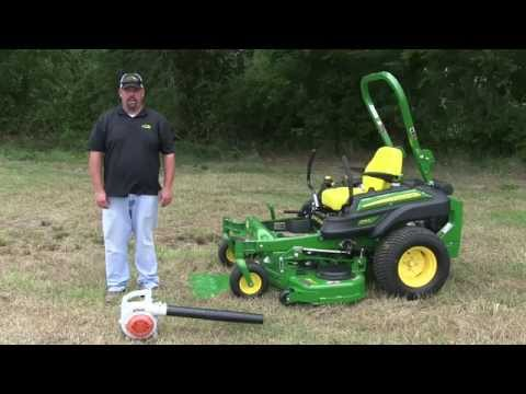 John Deere ZTrak Cleaning Off The Deck