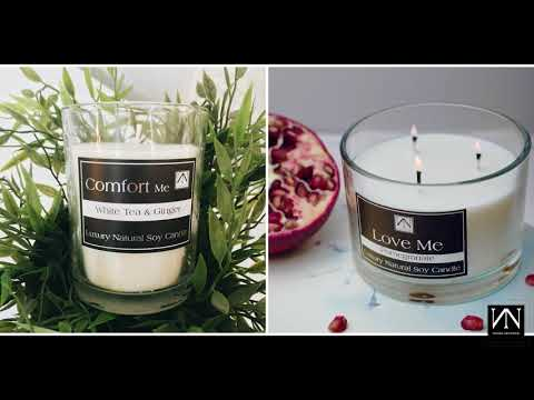 Affordable Luxury Soy Wax Candle and Free Candle