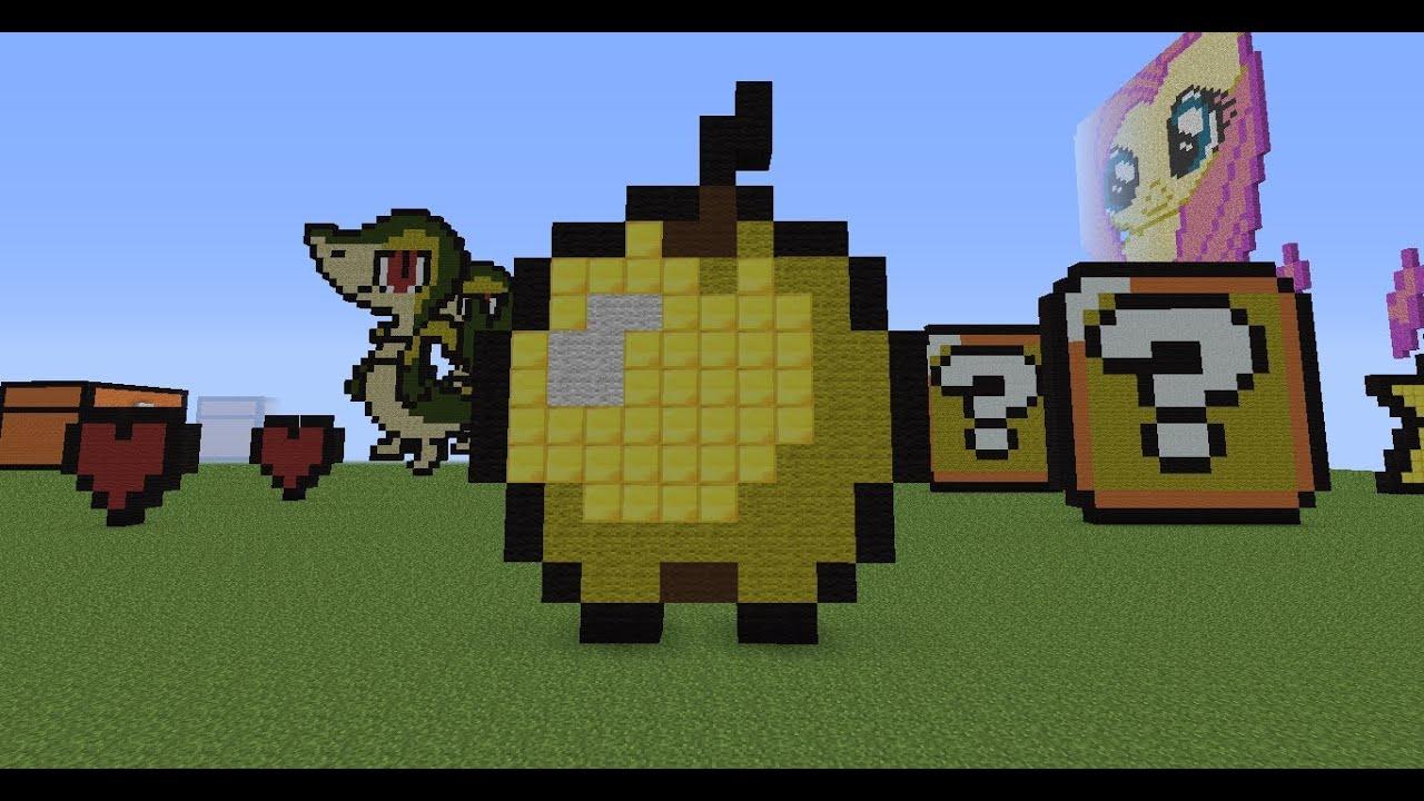 minecraft pixel art tu...
