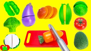 Toy Cutting Vegetables Velcro Food Toys LEARN COLORS and VEGGIES