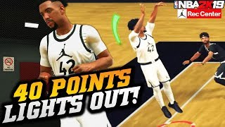 NBA 2K19 Jordan Rec Center: 40 Points With The Best Custom Jumpshot! NBA 2K19 JRC Gameplay