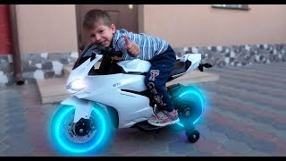 Funny Kids Ride on Sportbike Pocket bike / Unboxing and Assembling Surprise Children 's Toys