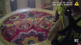 Jesus Campos met by police after he was shot on 32nd floor of Mandalay Bay